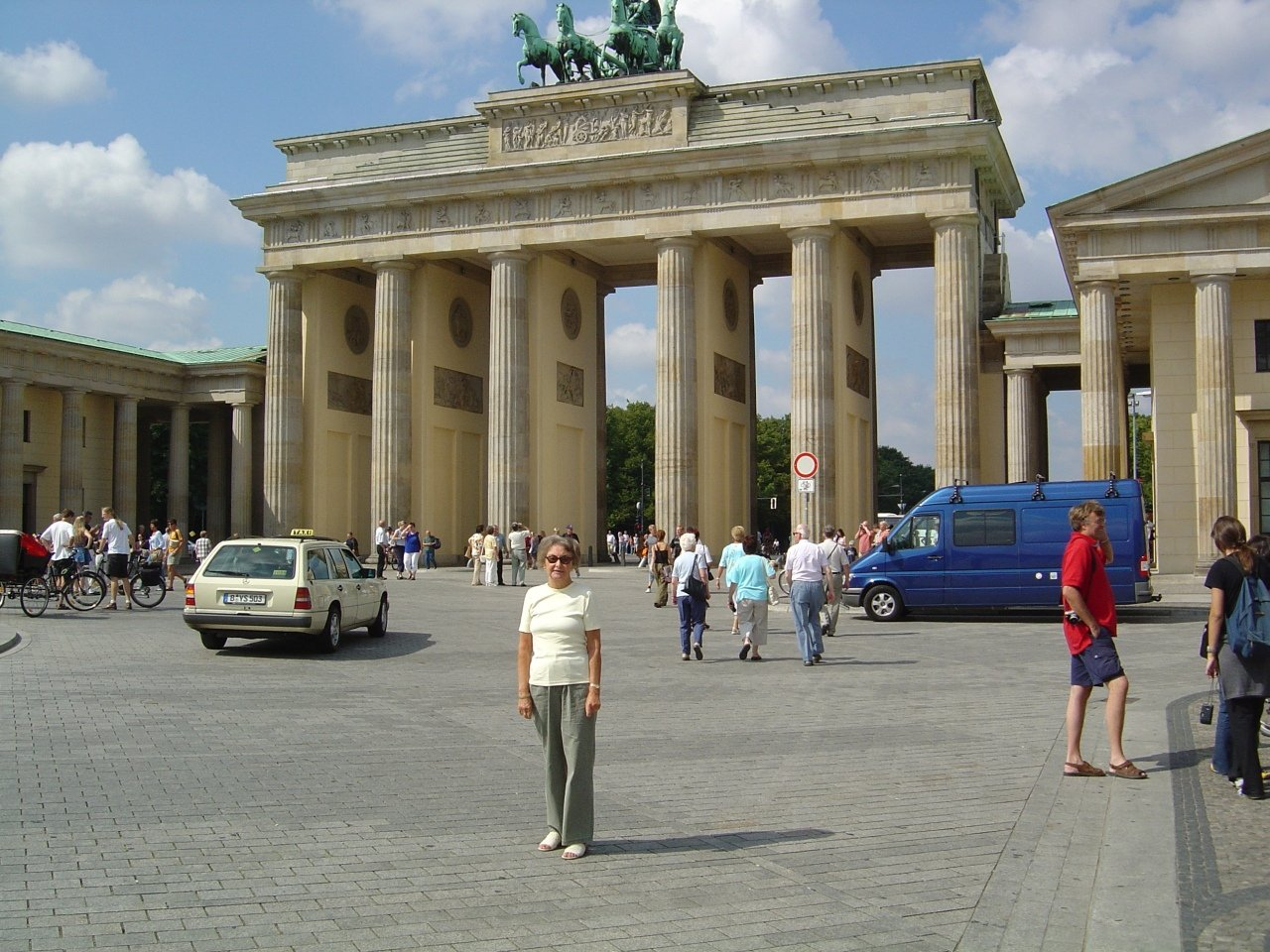 Maria at Brandenburg Gate, Berlin